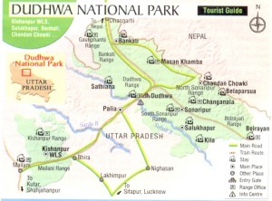 Dudhwa National park maps