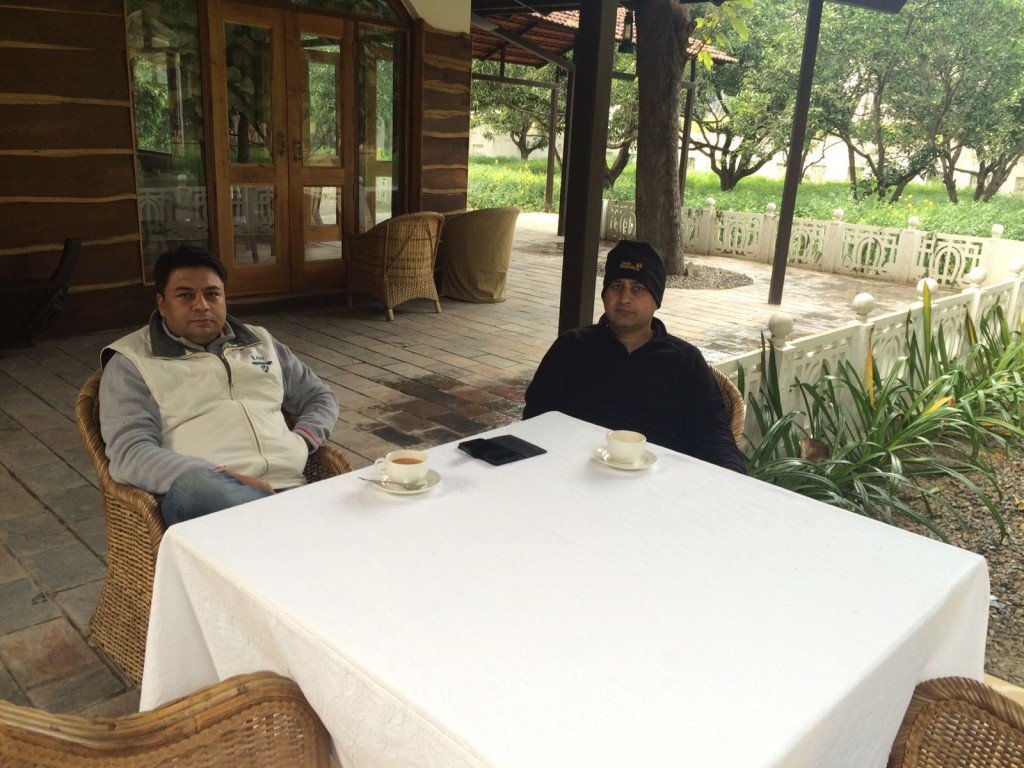 Tea Time outside of Dudhwa Jaagir Lodge